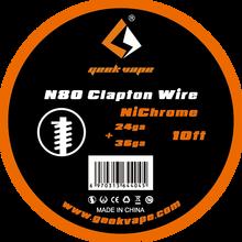 Original 10ft Geekvape N80 Clapton Wire GeekVape Wire for Electronic Cigarette RDA RTA RDTA Atomizer DIY Coils