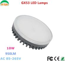 GX53 LED Spotlight LAMP BULB 10W Downlight ultra bright lights 110V 220V CE RoHS Replace 60W Halogen Lamp for Home Freeshipping