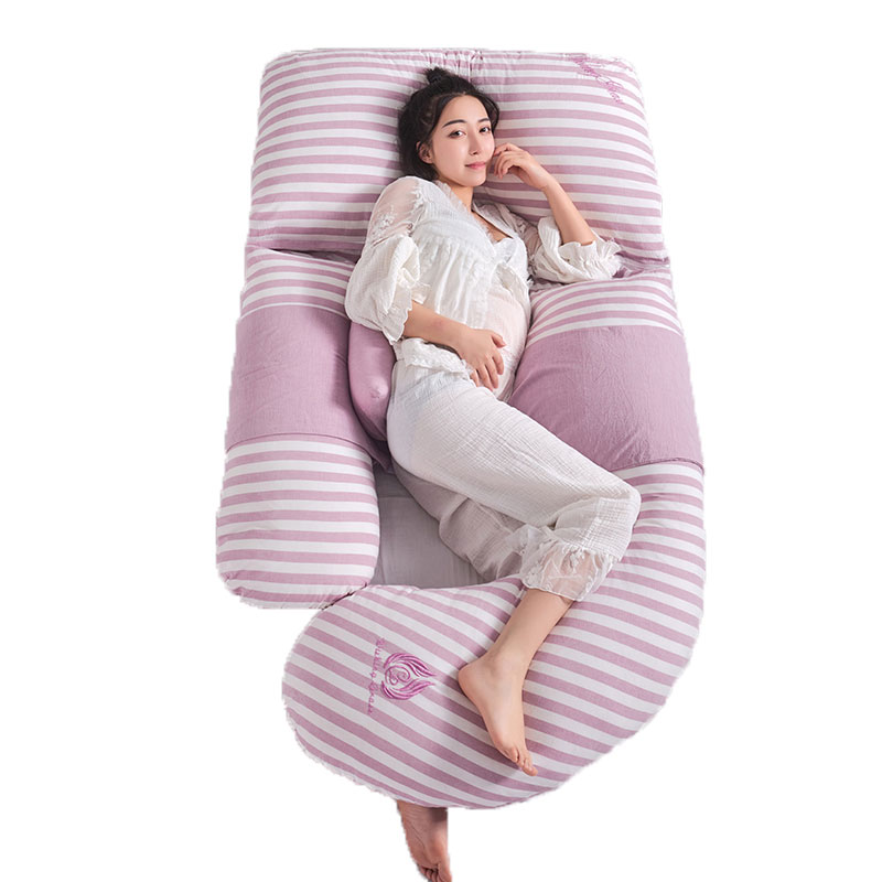 U Type Big Body Pillow For Pregnant Women Gestation Pillow Waist Belly Support Side Sleeping Pillow Breathable Maternity Bedding