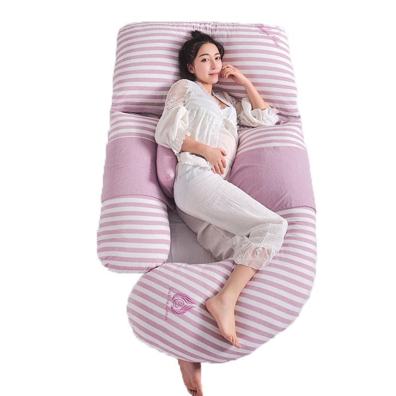 U タイプビッグボディ妊娠中の女性の妊娠枕ウエストベリー支持サイド睡眠枕通気性出産の寝具  グループ上の ママ & キッズ からの 妊娠中の枕 の中 1