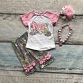 Meninas capris primavera verão meninas do bebê roupas crianças crianças boutique roupas Primavera está no ar com acessórios