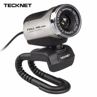 TeckNet 1080P HD Webcam With Built In Microphone