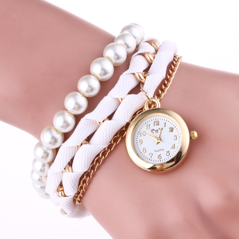Woman Watch 2019 Fashion Casual Jewelry Bracelet Wrist Watches For Women Luxury Pearl Quartz Watch Ladies Clock bayan saat in Women 39 s Watches from Watches