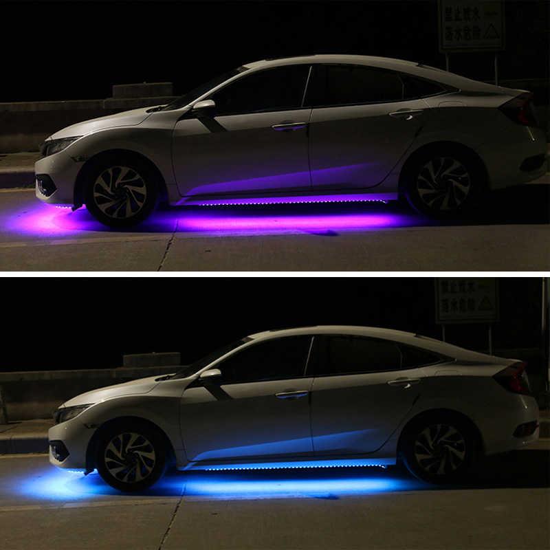 12 v carro flexível luzes de tira led rgb auto underglow decoração lâmpada sob luz lâmpadas atmosfera led underbody sistema lâmpada do carro