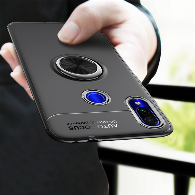Чехол-кольцо для Redmi 7A K20 note 7 5 6 pro из ТПУ со скрытой подставкой с автомобильным магнитом случай для Redmi Примечание 4/4x6 6A S2