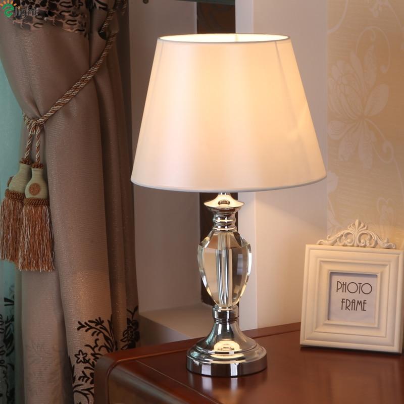 Modern Lustre Crystal Led Table Lamp Luminaria De Mesa Chrome Metal Bedroom Led Table Lights Fixtures Led Table Light Tefellamp