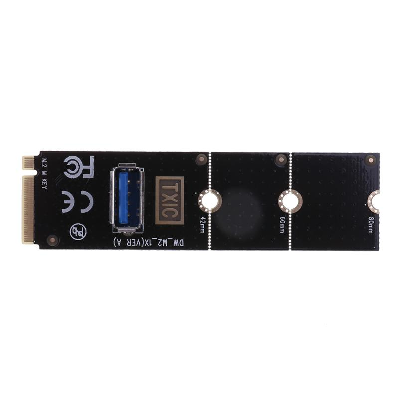NGFF M.2 to USB3.0 Converter Adapter Graphic card Extender Card M.2 NGFF to PCI-E X16 Slot Transfer Card Mining m2 Riser Card xp941 sm951 pm951 sm961 m 2 ngff ssd to pci e x4 lane host adapter converter card m 2 ngff to nvme with cooling fan em88