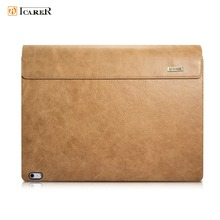 Icarer Universal Vintage Detachable Genuine Leather Case For Surface Book Business Retro Leather Flip Case For Surface Book