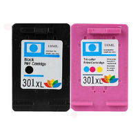 2x COMPATIBLE HP301 HP 301 XL PRINTER CARTRIDGE DESKJET 1000 1050 1055 2050A 3000 3050A