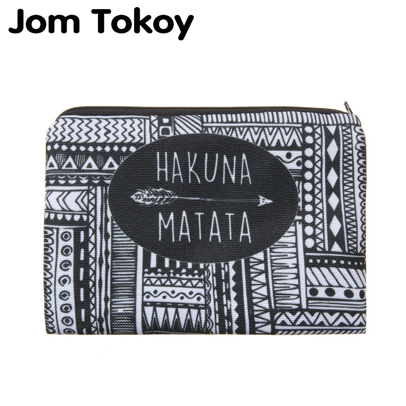 Hakuna matata Portable Type Make up Bags Cosmetic Case Maleta de Maquiagem Bags Storage Travel Makeup Bag Brand Pencil case