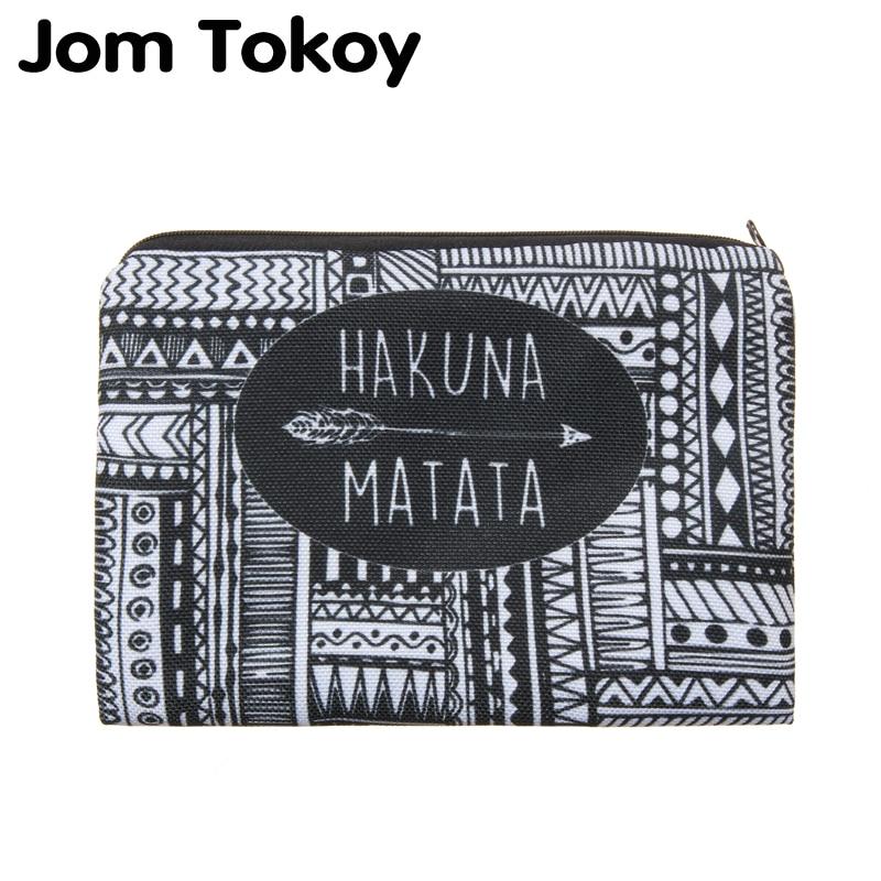 Hakuna Matata Portable Type Make Up Bags Cosmetic Case Maleta De Maquiagem Bags Storage Travel Makeup Bag Brand Pencil Case