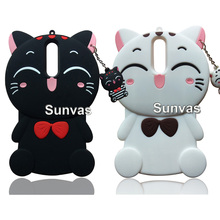 3D Cute Cartoon Lucky Cat Soft Silicone Case Mobile Phone Back Cover Skin Shell For Nokia 3 5 6 8