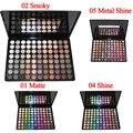 Pro 88 Full Color Eyeshadow Palette Matte Brilho Smoky Brilhar Moda Sombra de Olho Maquiagem Conjunto de 4 Modelo de Metal