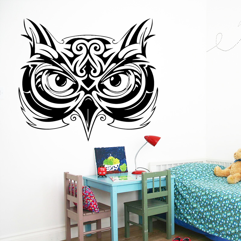 Fun owl Vinyl Wallpaper Roll Furniture Decorative For Kids Room Living Room Home Decor Background Wall Art Decal