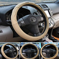 Big size wear resistance leather material soft steering wheel cover non-slip 36cm 38cm 40cm car steering wheel cover lzh