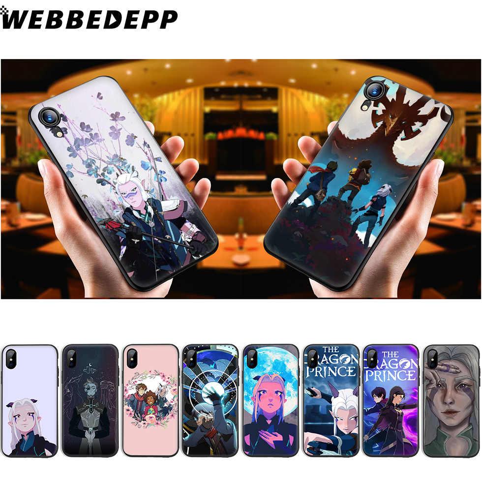 WEBBEDEPP Rồng Hoàng Tử Truyền Hình Silicone Mềm dành cho iPhone 11 Pro XR XS Max X hoặc 10 8 7 6 6S Plus 5 5S SE 8 Plus