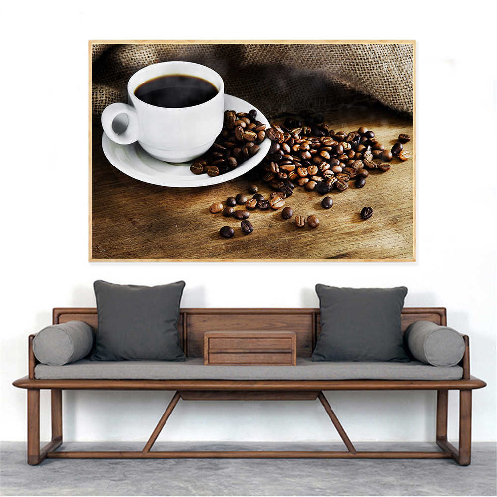 Nordic Drinks Poster Coffee Bean Wall Art Kitchen Decor Wall Pictures for Living Room Decoration Modern Print Cuadros Decoracion