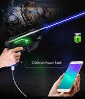 High Power Burning Paper Cigarrete Matches 450nm USB Blue laser pointer LED Light Power Bank Built in 5200mah