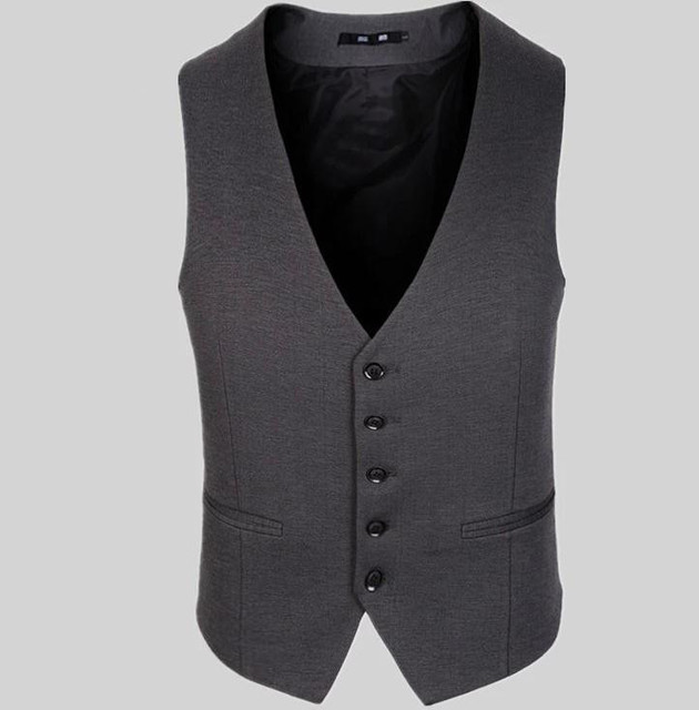 Plus Size 3XL,4XL Men Suit Vest Slim Dress Vests Men's High quality Waistcoat Casual Men Suit Vest  Tops five Buttons