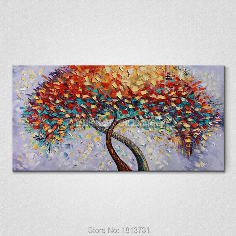 Lukisan Minyak Buatan Tangan Pisau Palet Bunga Lukisan Minyak Di Atas - Dekorasi rumah - Foto 5