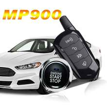 Car alarm Two remote controls Auto Start stop keyless entry system Central locking start button PKE MP900