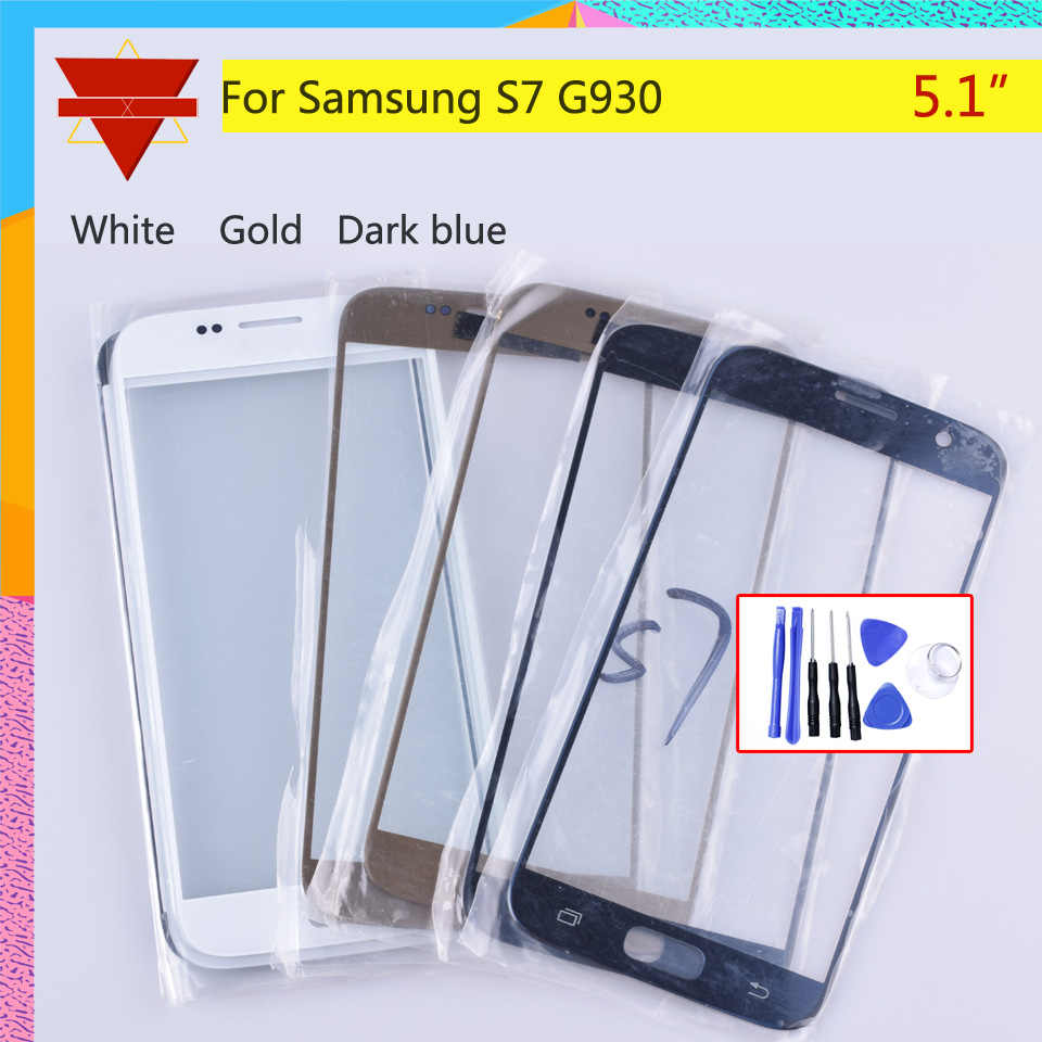 S7 TouchScreen Voor Samsung Galaxy S7 G930 G930F G930A SM-G930L Touch Screen Voorpaneel Glas Lens Outer GEEN LCD Display