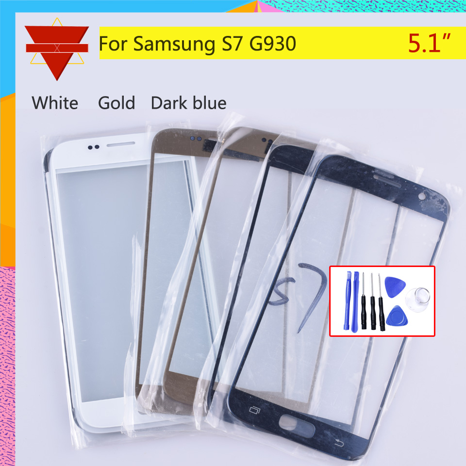 <font><b>S7</b></font> TouchScreen For <font><b>Samsung</b></font> <font><b>Galaxy</b></font> <font><b>S7</b></font> G930 <font><b>G930F</b></font> G930A SM-G930L Touch Screen Front Panel Glass Lens Outer NO <font><b>LCD</b></font> <font><b>Display</b></font> image