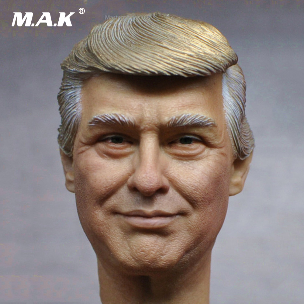 1/6 Scale USA President Donald Trump Head Sculpt Limited Stock Collections for 12 inches Body Figure 1 6 scale the game of death bruce lee head sculpt and kungfu clothes for 12 inches figures bodies
