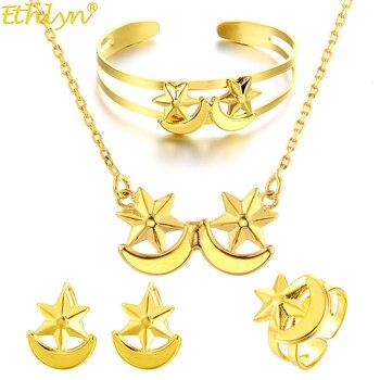 73ae4805e8a0 WANDO collar de lujo/pendientes/anillo/brazalete conjunto de joyería  elegante árabe/etíope ...