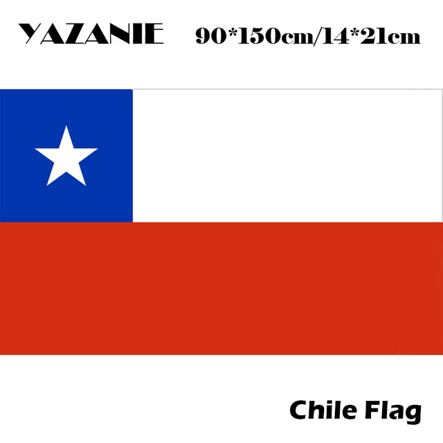 yazanie 90x150cm chile flag 100 polyester chilean flags and banners