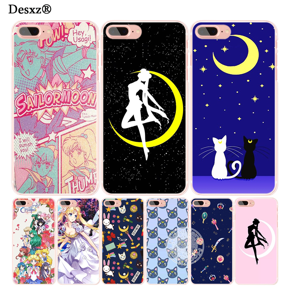 info for 08560 03be1 Cases Sailor Moon Sailormoon Girl Crystal Cell Phone Cover Iphone 6 4 4S 5  5S SE 5C 6 6S 7 8 X Plus