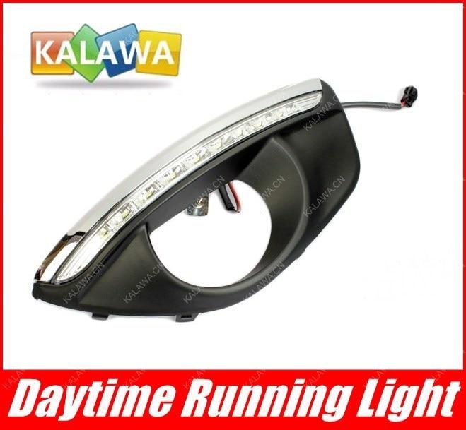 ФОТО LED daytime running lights case for Hyundai Santafe 2010-2012 9 LED DRL Highlight version new HY-041 FREESHIPPING GGG