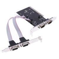 1pcs 4 Port RS 232 Serial Port COM To PCI E PCI Express Card Adapter Converter