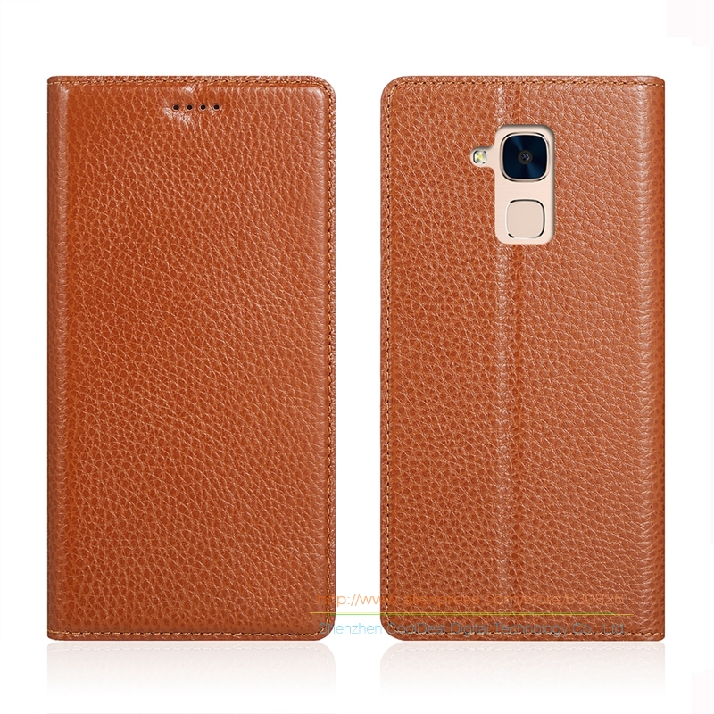 Invisible Magnet Genuine Leather Case For font b Huawei b font Honor 5C 5 2 Luxury