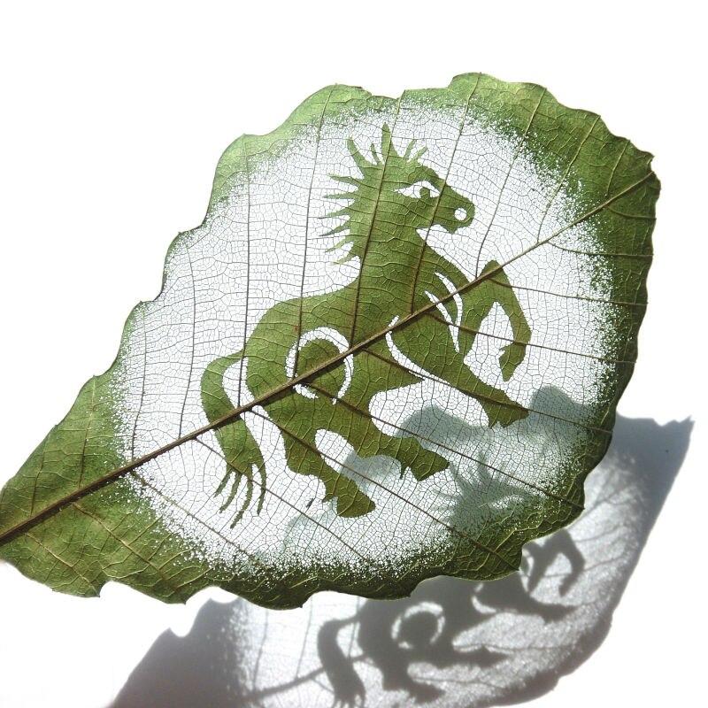 12 Zodiac New Year Chinese Bookmark Glauca Leaf Carving