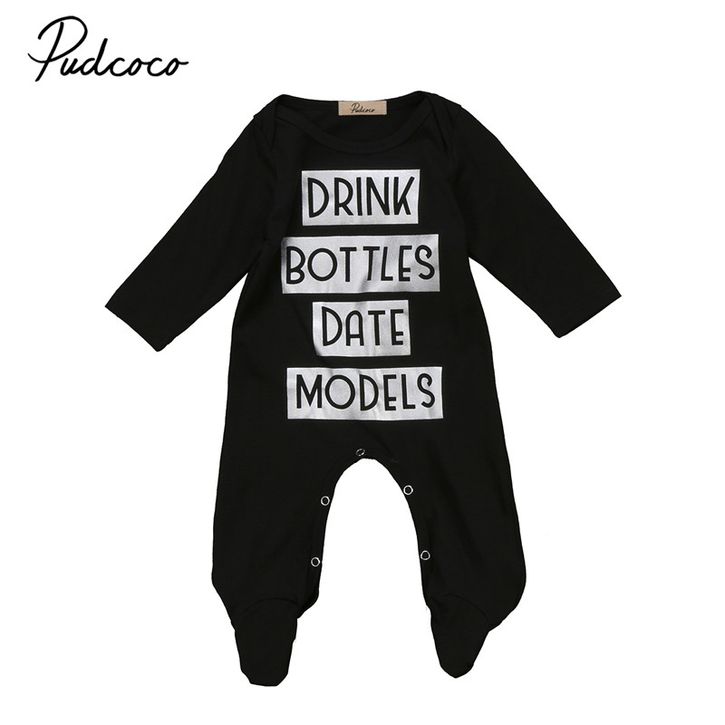 2017 Newborn Toddler Infant Baby Boys Girls Clothes BABY Romper Long Sleeve Rompers Playsuit Cotton Baby Girls Clothes Age 3-18M