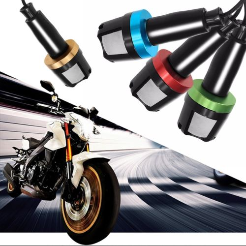 2PCS Universal Electric vehicle Motorcycle Handlebar LED Turn Signal Grip Bar End Light Warning Lamp 12v