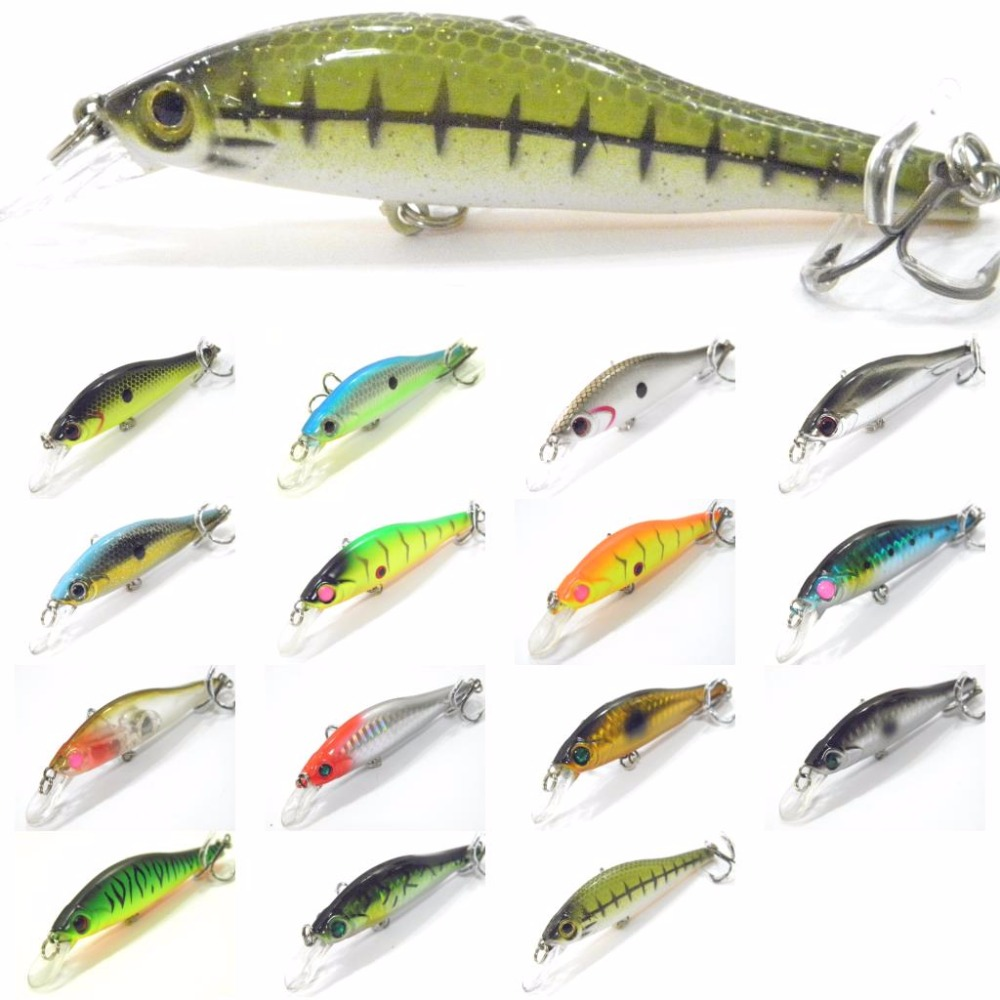 Fishing lure minnow crankbait hard bait fresh water for Walleye fishing gear