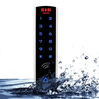 RFID 125KHz EM Card SIB Waterproof Metal Case With Luminous Touch Keypad Access Control System For