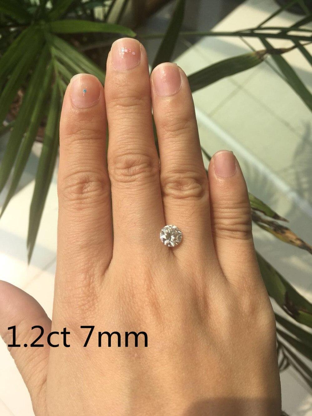 Transgems 1 pieza brillante 7,0mm F incoloro corazones y flechas corte redondo anillo piedra suelta perlas para joyería haciendo - 6