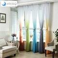 Moderna decoração de casamento tule cortinas Quarto Rampa Gradiente de fios de cortina Da Janela Cortina de sala de estar