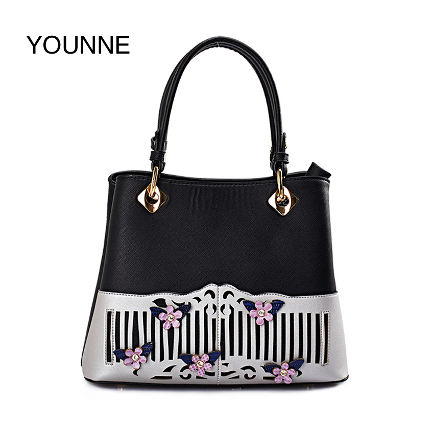YOUNNE Handbag Women Hight Quality Bags Female Fashion Garden Printing Daily Bags Lady Casual Soild Tote Bag Top-handle Bag Bao florida top 10 garden guide top 10 garden guides