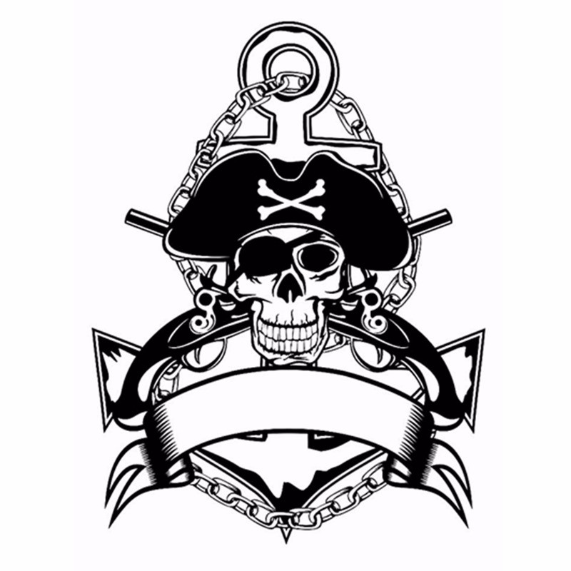SILVER SKULL DECAL GRAPHIC STICKER  WALL ART VARIOUS SIZES