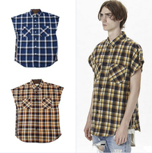 inflation streetwear brand clothing cotton arm sleeves font b tartan b font clothing fog flannel side