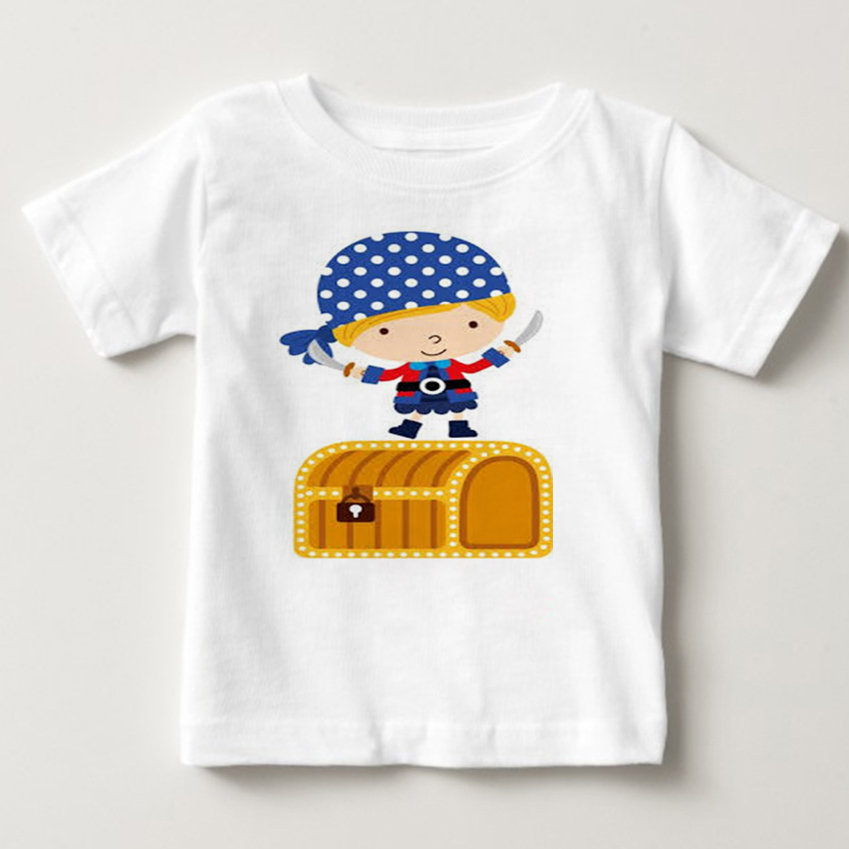 2018 new cartoon image lovely children t shirt boys and girls Pirates of the Caribbean T shirt short sleeve tshirt tops in T Shirts from Mother Kids