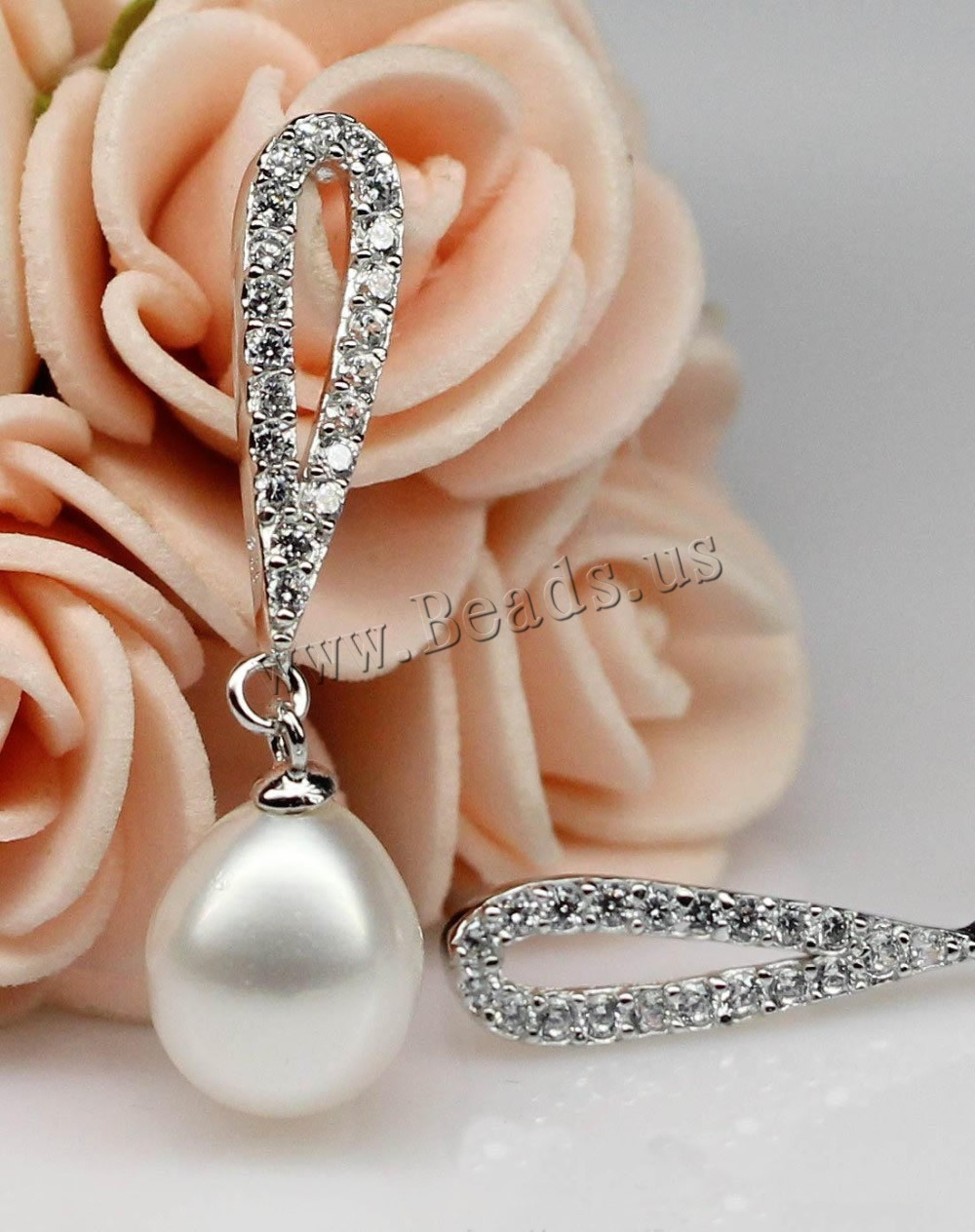 Pearl Earrings Genuine Sterling Pearl Earring Silver 925 Earring Natural  Pearls Fashion Jewelry(china (