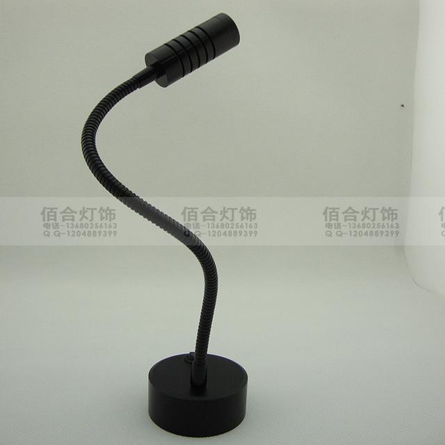 Manguera lámpara LED contador sin electricidad la batería de la lámpara de la lámpara escaparate lámpara de escritorio de la joyería de la boda