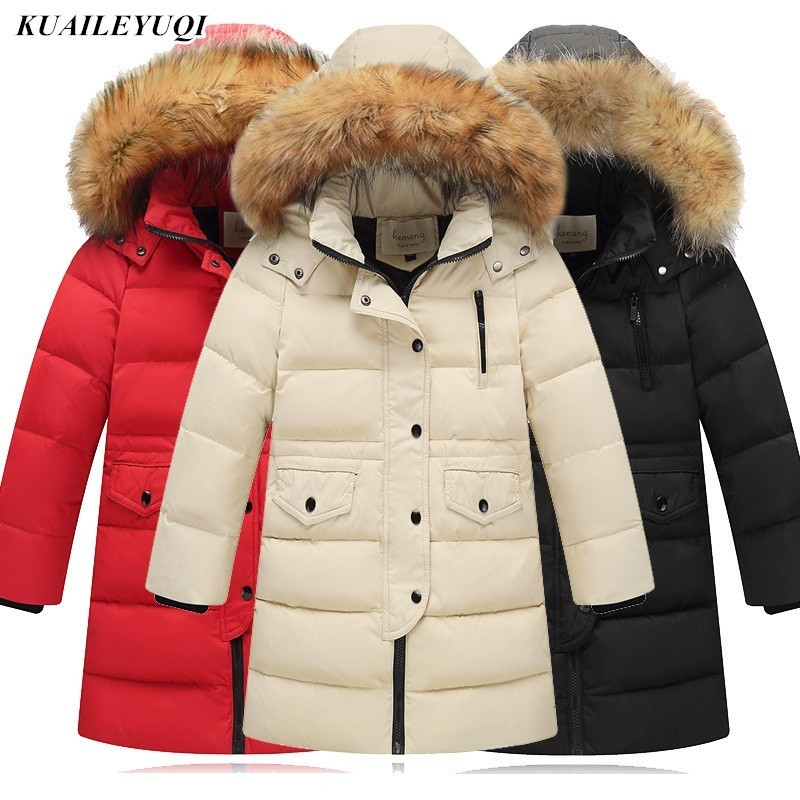 2019 Children Made of Feather Winter Duck Down Jacket for Girls clothing Boys Parka Child hooded