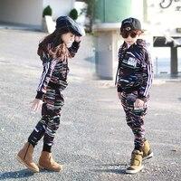תחפושות חג המולד קוריאה ריקוד ילדים בגדי סט תינוק סט שתי חתיכה מעיל ילדה עבור בנות + מכנסי הרמון ילד תינוק 2 יחידות ספורט חליפות