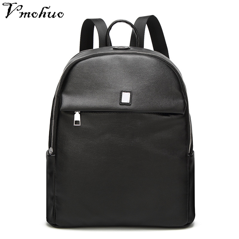 VMOHUO 2018 New Women Backpacks Brand Design Fashion Black High Quality Leather Backpack Travel For Canvas School Bags Teenager
